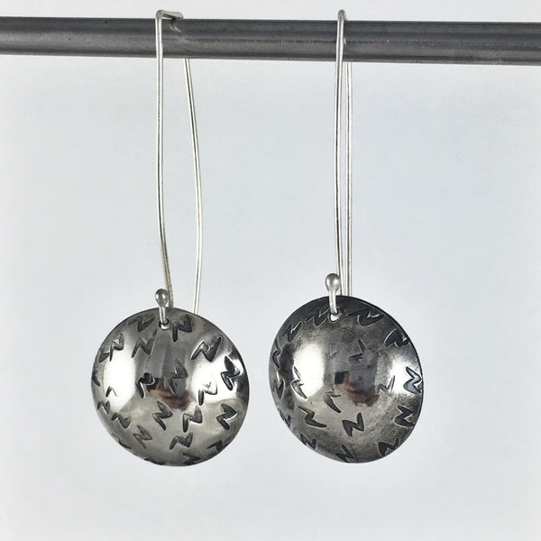 Silver Lightening Drop Earrings