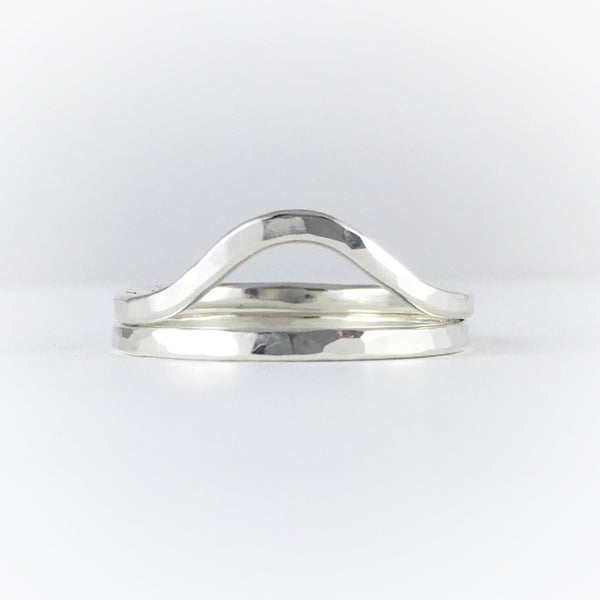 Stacking Wave Rings: Sterling