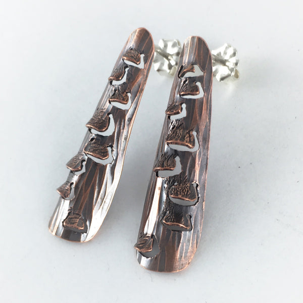 Fairy Shelf Earrings: Copper