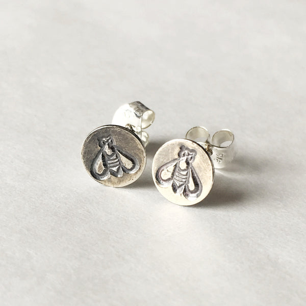 Sterling Bee Studs