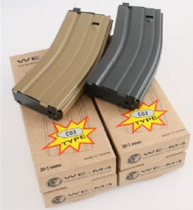 30 Round Open Bolt CO2 Magazine for M4 /M16 / SCAR/L85/T91/PDW series (Black)-Rifle Magazines-Crown Airsoft