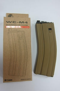 2012 (Ver.2) 30 Round Open Bolt Gas Magazine for M4 /M16 / XM177/ SCAR/L85/T91/PDW GBB series (Tan)-Rifle Magazines-Crown Airsoft