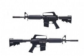 WE Tech XM177 GBBR (Black)-Rifles-Crown Airsoft