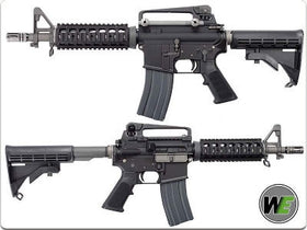 WE Tech M4 RIS CQB GBB Rifle (Black)-Rifles-Crown Airsoft