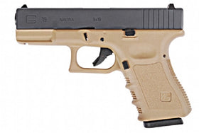WE Tech G series G19 GBB Pistol(Tan)-Pistols-Crown Airsoft