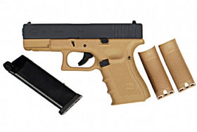 WE Tech G series G19 GEN4 GBB Pistol(Tan)-Pistols-Crown Airsoft