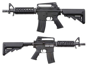 WE Tech M4 CQB AEG (Black)-Rifles-Crown Airsoft