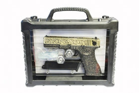 WE Tech G series Engraved G18C Box set(Bronze)-Pistols-Crown Airsoft