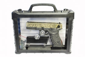 WE Tech G series Engraved G18C IV Box set( Ivory)-Pistols-Crown Airsoft