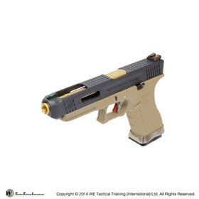 WE Tech G Force G34 GBB pistol T6 (Black/ Gold/ Tan)-Pistols-Crown Airsoft