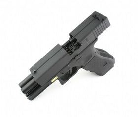 WE Tech Double Barrel G17 GBB Pistol (Black)-Pistols-Crown Airsoft