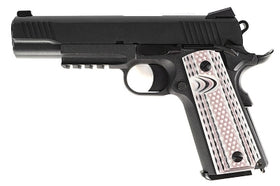 WE Tech M45A1 1911 GBB Pistol (Black)-Pistols-Crown Airsoft
