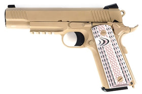 WE Tech M45A1 1911 GBB Pistol (FDE)-Pistols-Crown Airsoft