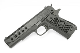 WE-Tech 1911 Hex-Cut GBB Pistol(Black)-Pistols-Crown Airsoft