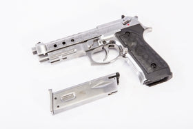 WE Tech M9A1 HEX CUT GBB Pistol(Silver)-Pistols-Crown Airsoft