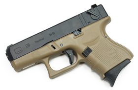 WE Tech G series G26 Gen4 GBB Pistol (FDE)-Pistols-Crown Airsoft