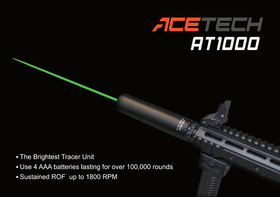 Acetech AT1000 Barrel Extension Tracer Unit (Black)-Muzzle device-Crown Airsoft