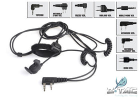 Z tactical Bone Conduction Headset with finger PTT Z010 Motorola 2pin-Combat Gear-Crown Airsoft