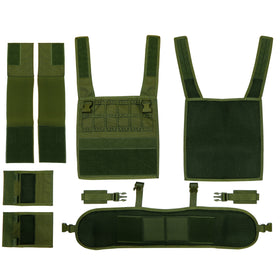 Crown Tactical Portable Conception Plate Carrier PCP Vest (Color: OD)-Vest-Crown Airsoft