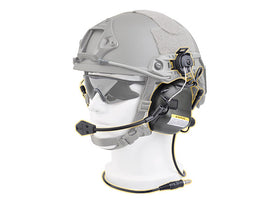 Earmor M32H MOD1 Tactical Communication Hearing Protector for FAST MT Helmets-Radio - Headset-Crown Airsoft