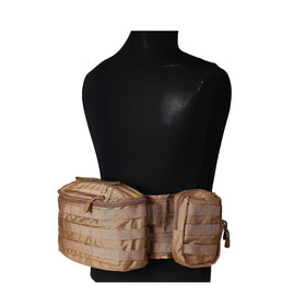 Nylon Combat belt battle system-Bags & Packs-Crown Airsoft