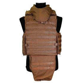 Nylon Heavy Duty MOLLE Body Armor (W/Grain Protector)-Combat Gear-Crown Airsoft