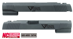 Aluminum Custom Slide for MARUI HI-CAPA 5.1 (Vickcrs/Black)-Internal Parts-Crown Airsoft