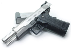 Aluminum Slide for TM HI-CAPA 5.1 (INFINITY/Cerakote Silver Polishing)-Internal Parts-Crown Airsoft