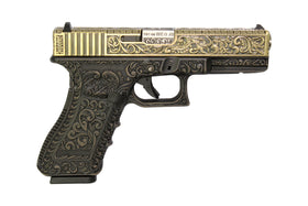 WE Tech G series Engraved G17 GBB Pistol(Bronze)-Pistols-Crown Airsoft