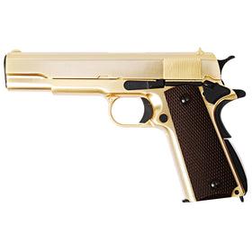 WE Tech 1911 Government Full Metal GBB Pistol (Gold)-Pistols-Crown Airsoft