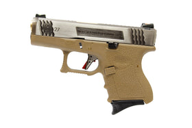 WE Tech G Force G27 T2 GBB pistol (Silver / Gold /Tan)-Pistols-Crown Airsoft