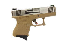 WE Tech G Force G26 T8 GBB pistol (Silve/ Silver/ Tan)-Pistols-Crown Airsoft