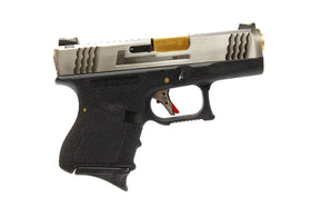 WE Tech G Force G27 T2 GBB pistol (Silver / Gold /Black)-Pistols-Crown Airsoft