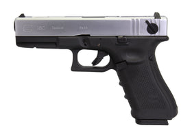 WE Tech G18C Gen4 GBB Pistol (Silver/ Black/ Black)-Pistols-Crown Airsoft
