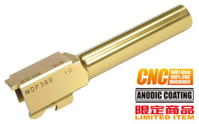 Aluminum CNC Titanium Golden Outer Barrel for KJ G19 -A Type (2015 New Ver.)-Internal Parts-Crown Airsoft