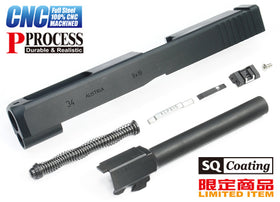 G34 Steel CNC Slide & Barrel Kit for TM G17 (Standard Ver. Black)-Internal Parts-Crown Airsoft