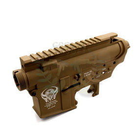 G&P Metal Body for M4 AEG (Dark Earth, Skull)-Receiver body-Crown Airsoft