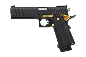 AW Custom AW-HX2102 Double Barrel 1911 Hi-Capa Gas Blowback Airsoft Pistol - Two Tone-Pistols-Crown Airsoft