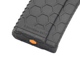 Hexmag Airsoft 120rds Polymer AEG Magazine(Black)-Rifle Magazines-Crown Airsoft