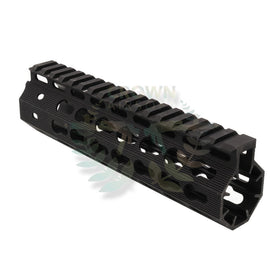 "Madbull 7"" STRIKE INDUSTRIES Mega Fin Keymode rail (Black)-Rails-Crown Airsoft"