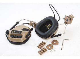 Earmor M31H Hearing Protection Ear-Muff Helmet Edition (TAN)-Combat Gear-Crown Airsoft