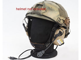 Earmor M32H Tactical Hearing Protection Ear-Muff Helmet Edition (TAN)-Combat Gear-Crown Airsoft
