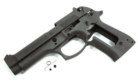 Aluminum Slide & Frame for MARUI M9 Desert Storm- (Black)-Internal Parts-Crown Airsoft