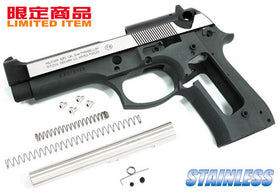 Aluminum Slide & Frame Kit for MARUI M9 Desert Storm- (Black/Sliver Side)-Internal Parts-Crown Airsoft