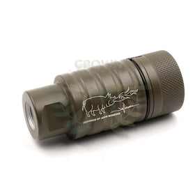 Madbull Noveske licenced KFH Sound amplifier (Olive Drab, 14mm CCW)-Muzzle device-Crown Airsoft