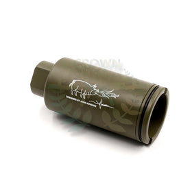 Madbull Noveske licenced KX3 Sound amplifier (Olive Drab, 14mm CCW)-Muzzle device-Crown Airsoft