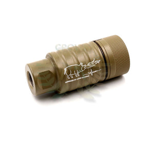Madbull Noveske licenced KFH Sound amplifier (Tan, 14mm CW)-Muzzle device-Crown Airsoft