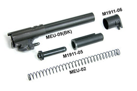 Aluminum Slide & Frame for MARUI MEU.45 (TRP/Black)-Internal Parts-Crown Airsoft