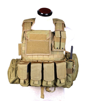 Phantom Tactical CIRAS Body armor W/ pouch set (TAN)-Combat Gear-Crown Airsoft