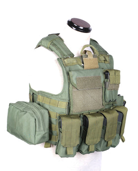 Phantom Tactical CIRAS Body armor W/ pouch set (Olive Drab)-Combat Gear-Crown Airsoft